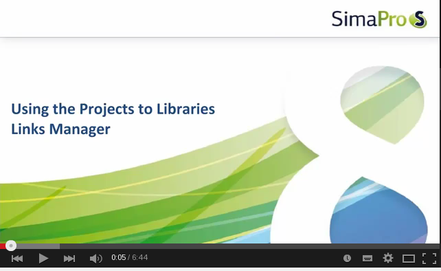 Projects to Libraries Links Manager